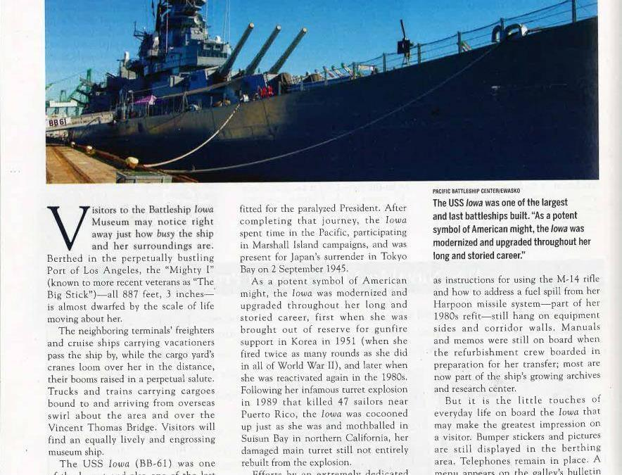 Museum Report: New Technology Highlights Old Battleship's Former Glory