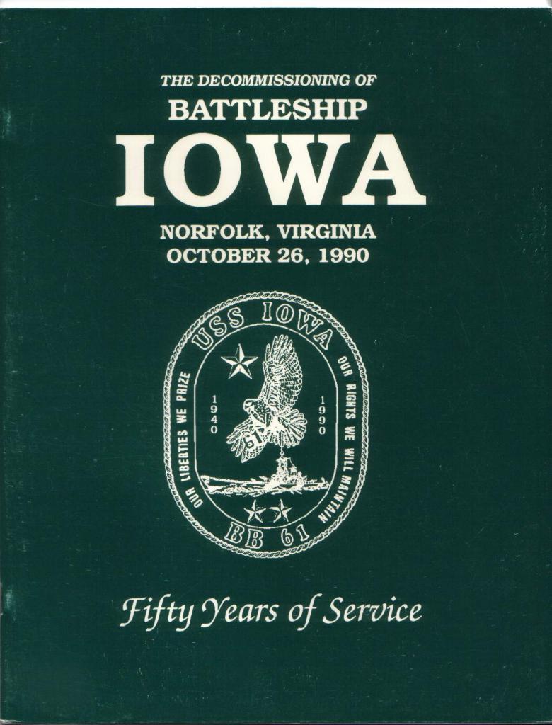 USS IOWA Decommissioned