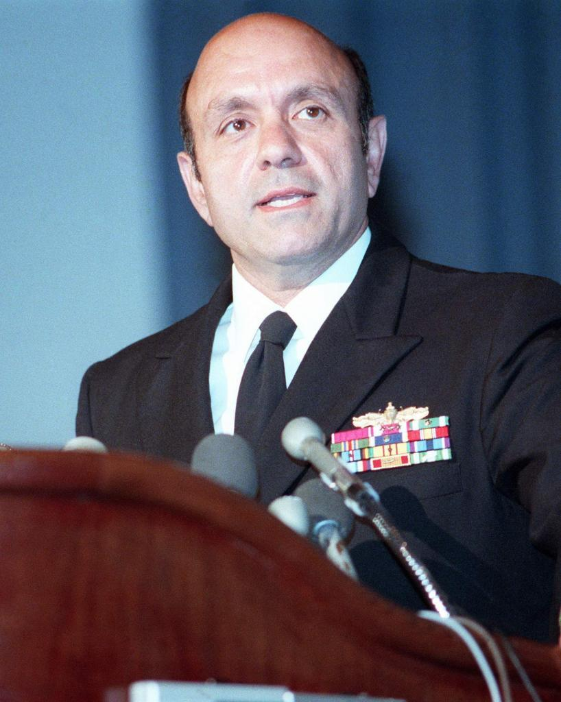 Captain Fred P. Moosally, USN Becomes Commanding Officer